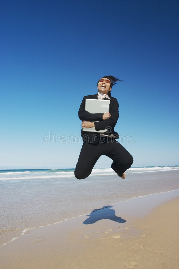 Download Exciting Businesswoman stock image. Image of leap, champion - 233289