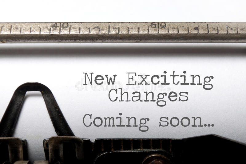 Exciting changes motivational saying royalty free stock images