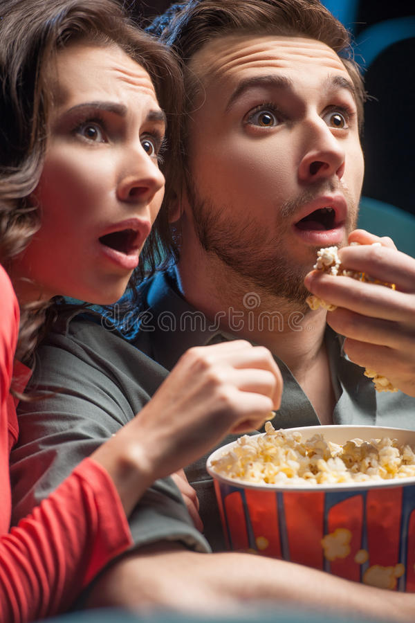 Exciting movie. royalty free stock photos
