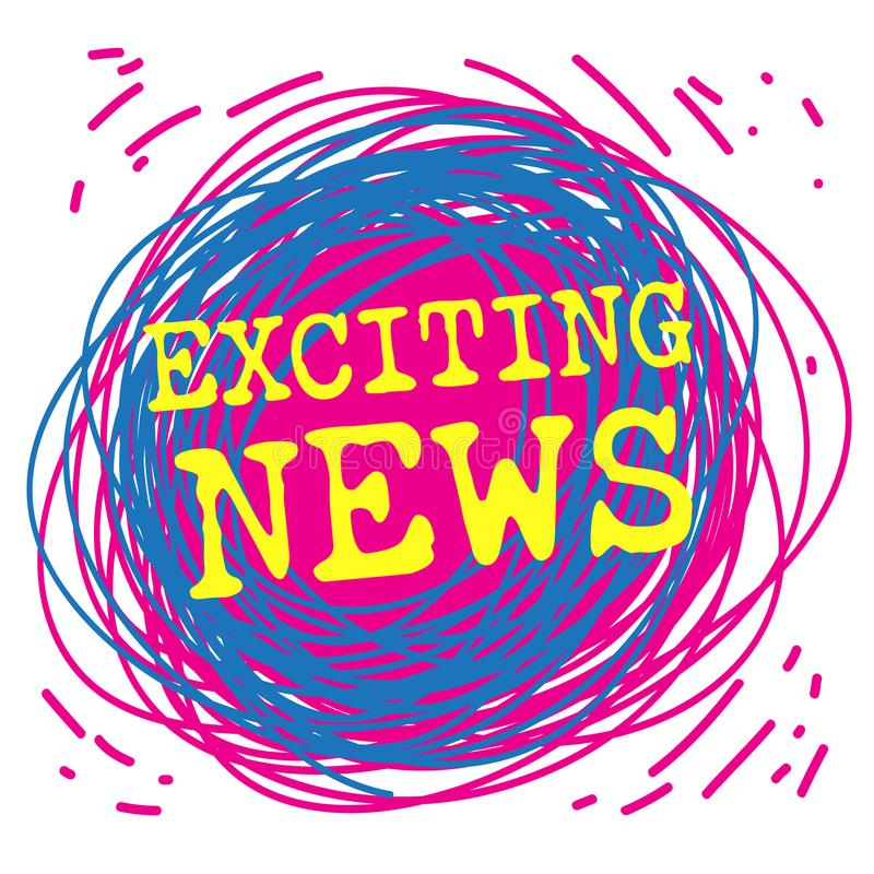 Free Exciting News Poster Or Banner Stock Image - 109719661