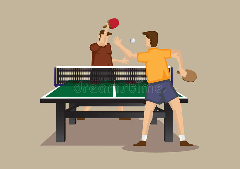 Exciting Table tennis Match Vector Illustration royalty free illustration