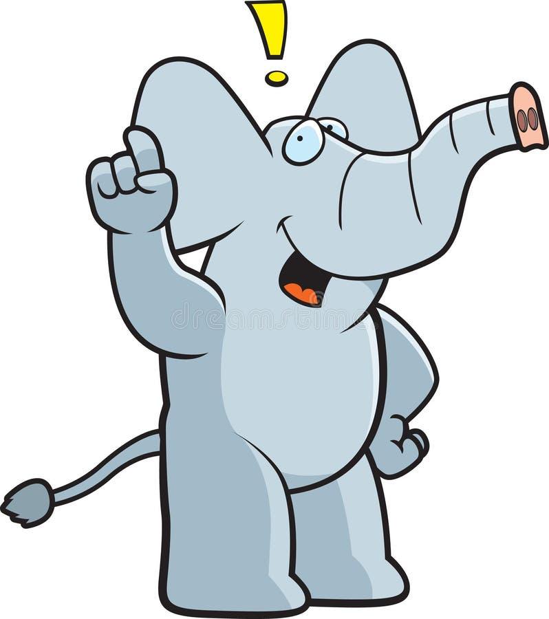 Exclamação do elefante ilustração stock