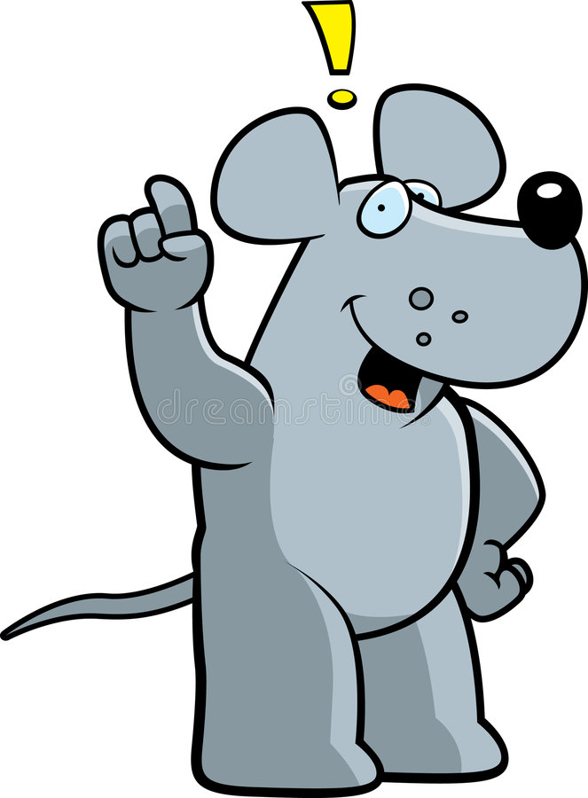 Exclamação do rato ilustração stock