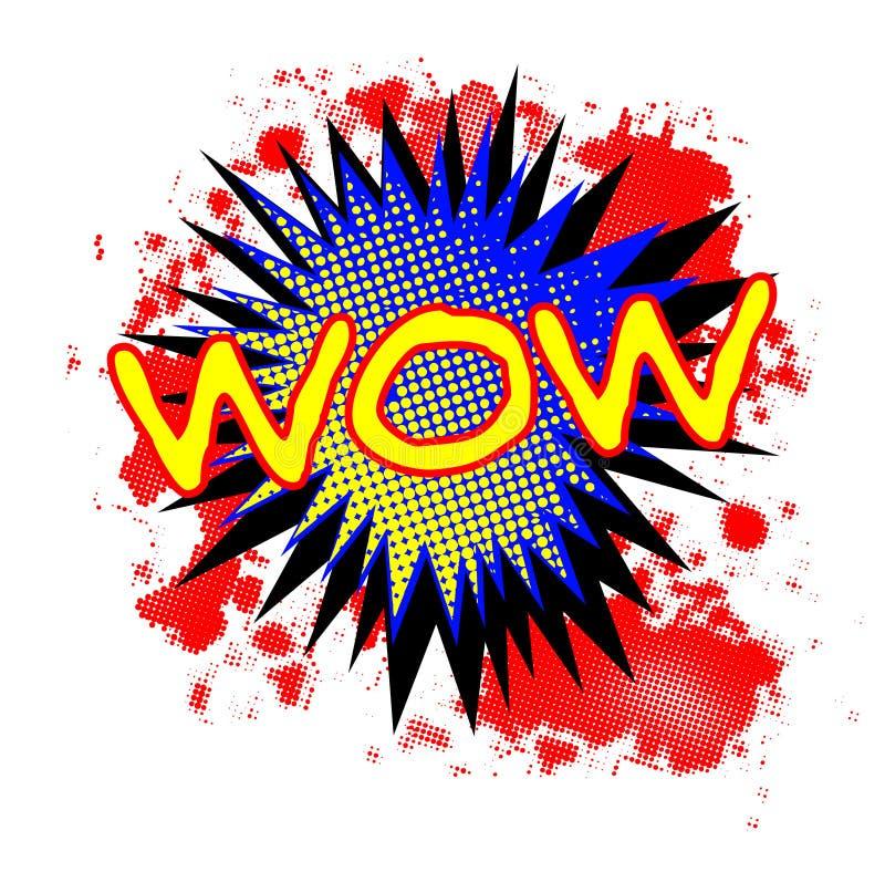 Exclamación cómica del wow stock de ilustración