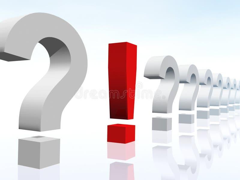 Exclamación y pregunta abstractas imagen de archivo libre de regalías