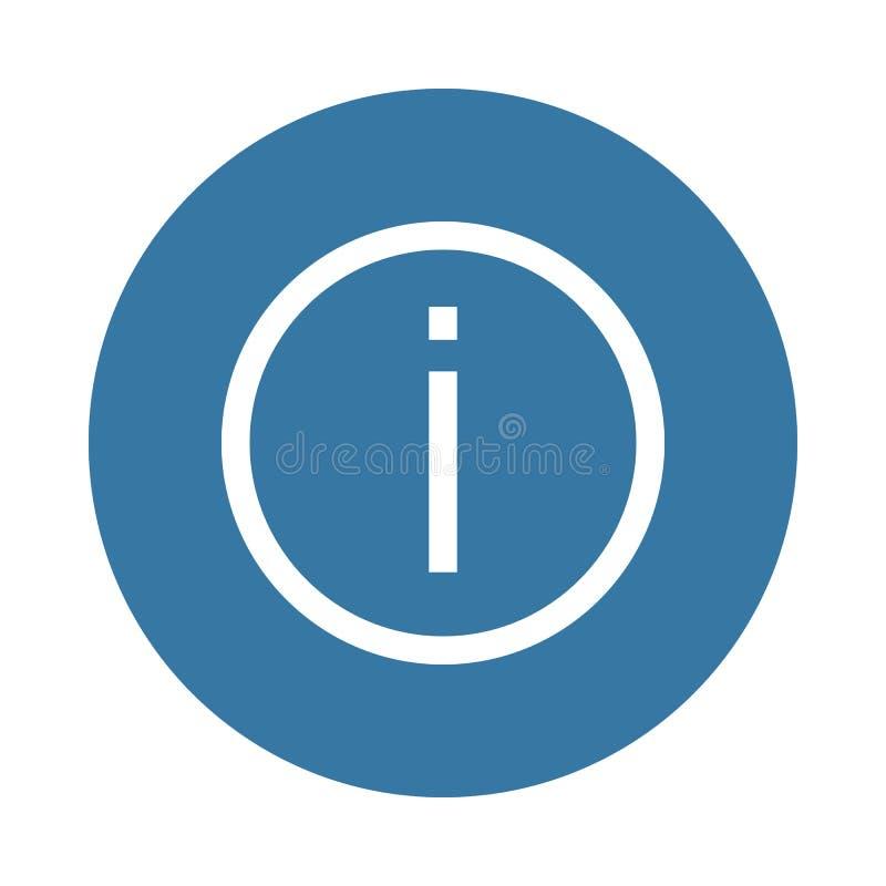 exclamation Elemento del icono del web en estilo de la insignia libre illustration