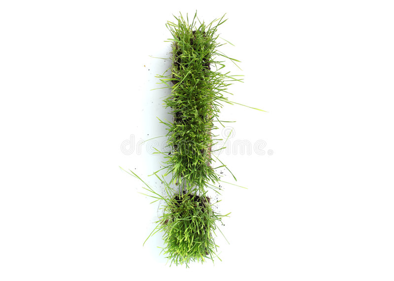 Download Exclamation mark stock photo. Image of lawn, isolated - 9048278