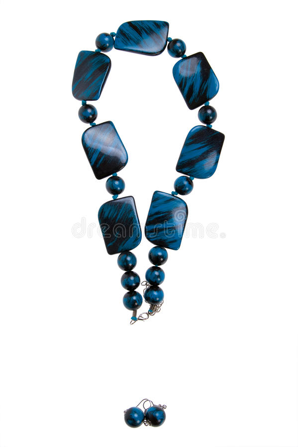 Download Exclamation Mark - Blue Necklace Stock Photo - Image: 12265866