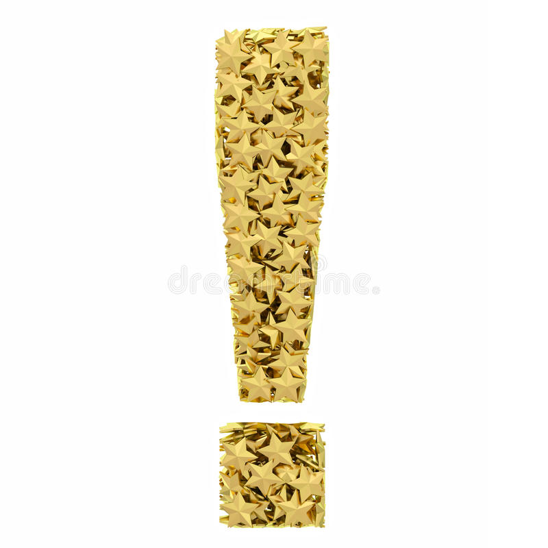 Exclamation Mark Composed Of Golden Royalty Free Stock