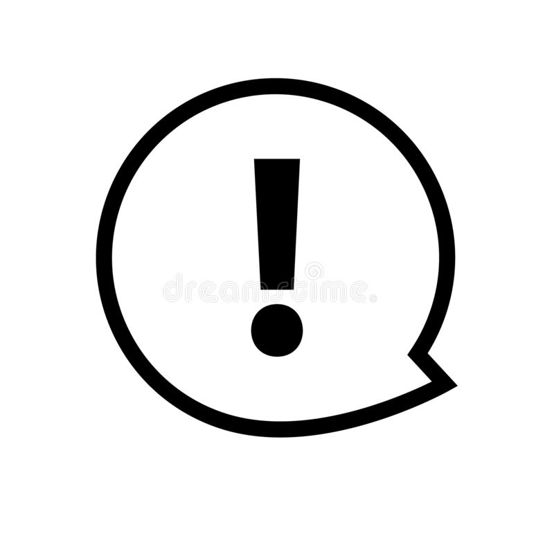 Exclamation mark icon vector. Attention sign symbol. Warning alert icon vector illustration