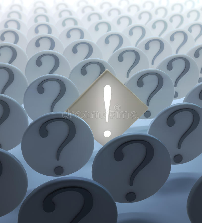 Download Exclamation Mark Among Question Stock Illustration - Image: 24971289