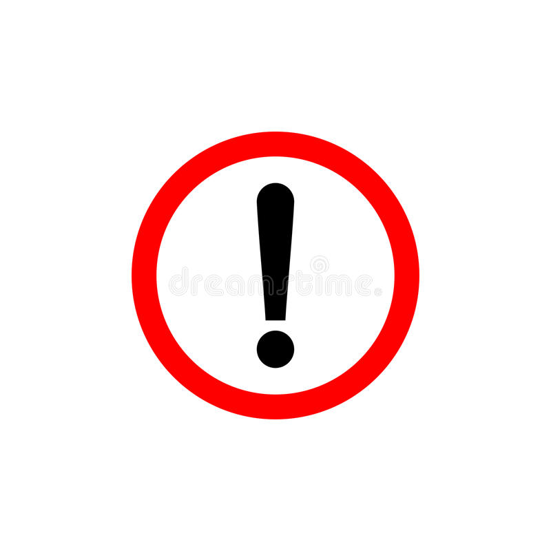 Exclamation Point In Car >> Exclamation Mark, Round Hazard Warning Symbol Stock Vector ...