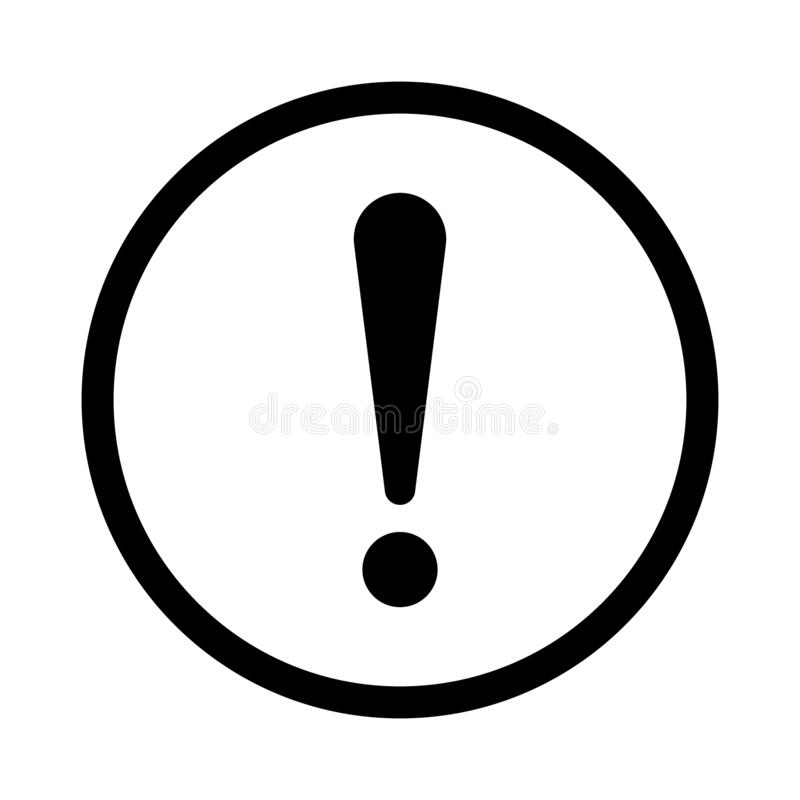 Free Exclamation Mark, Sign In Circle. Exclamation Point, Warning And Attention Icon. Notice Warn. Vector Stock Image - 188795091