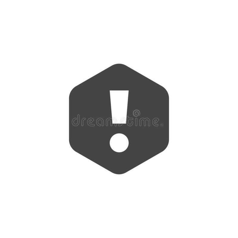 Exclamation mark sign. Web icon notifications, alert symbol, attention. Interface information pictogram. Vector isolated stock illustration