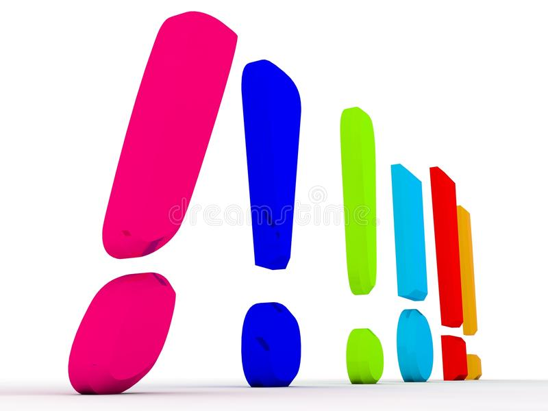 Download Exclamation marks stock illustration. Image of many, shout - 11134857
