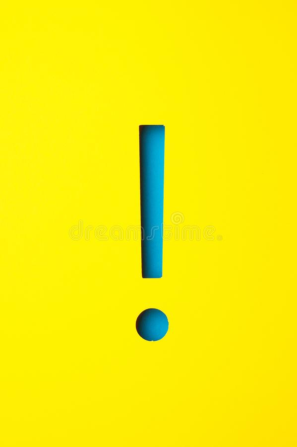Exclamation point royalty free stock photos