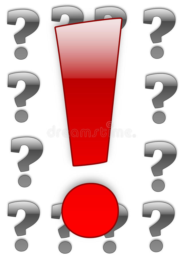 Download Exclamation Vs Question-mark Stock Illustration - Image: 10988142