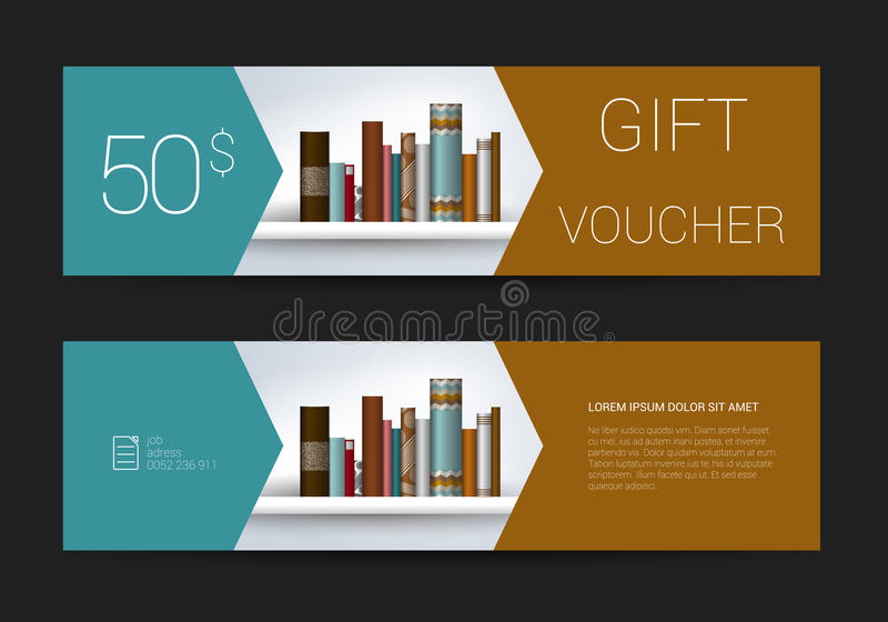 Download Excllusive Book Store Gift Voucher Template Simply Modern Design Stock Vector