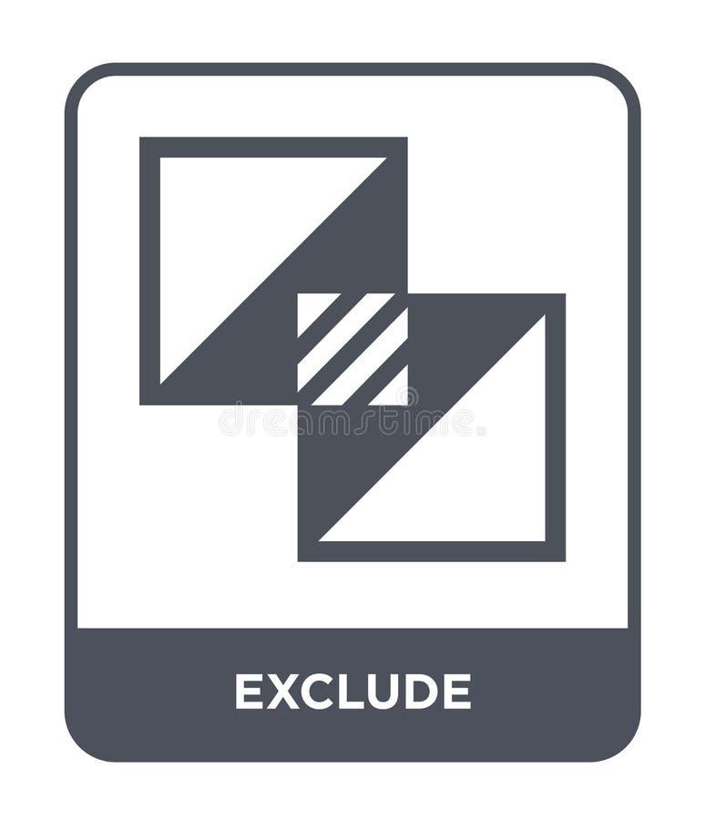 excluez l'icône dans le style à la mode de conception excluez l'icône d'isolement sur le fond blanc excluez le symbole plat simpl illustration de vecteur