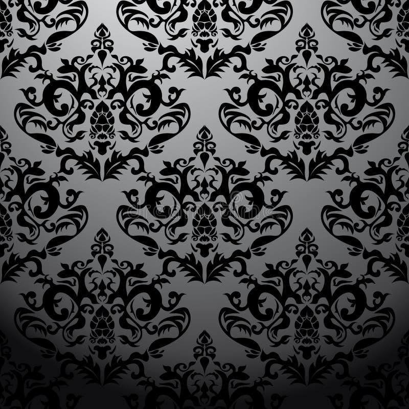 Exclusief zwart barok patroon vector illustratie