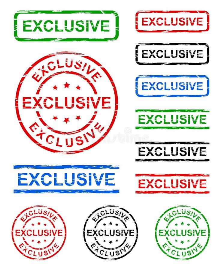 Exclusieve grungezegel vector illustratie