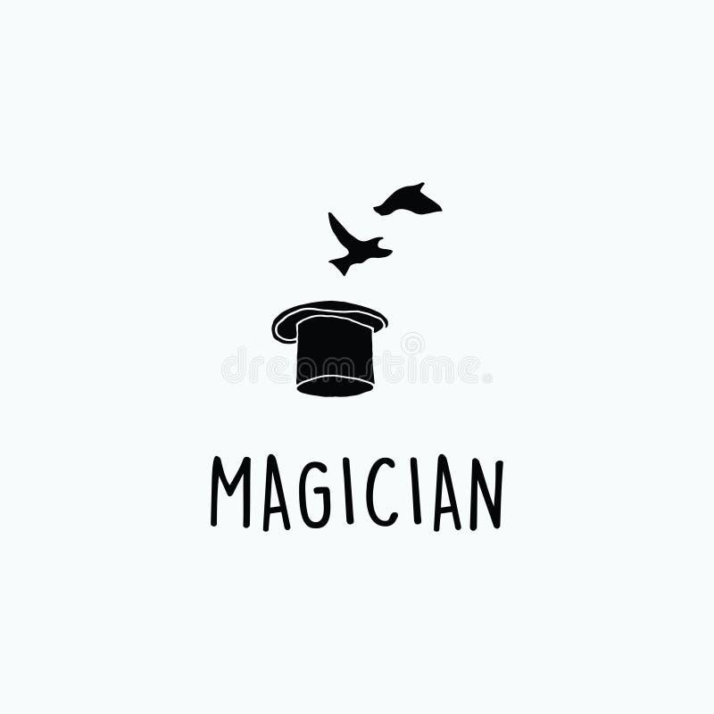 Exclusieve illustratie van een magische hoed stock illustratie