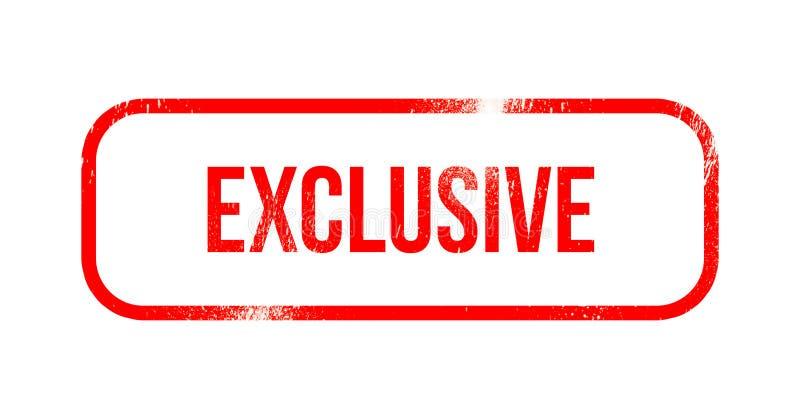 Exclusif - le caoutchouc grunge rouge, timbre illustration stock
