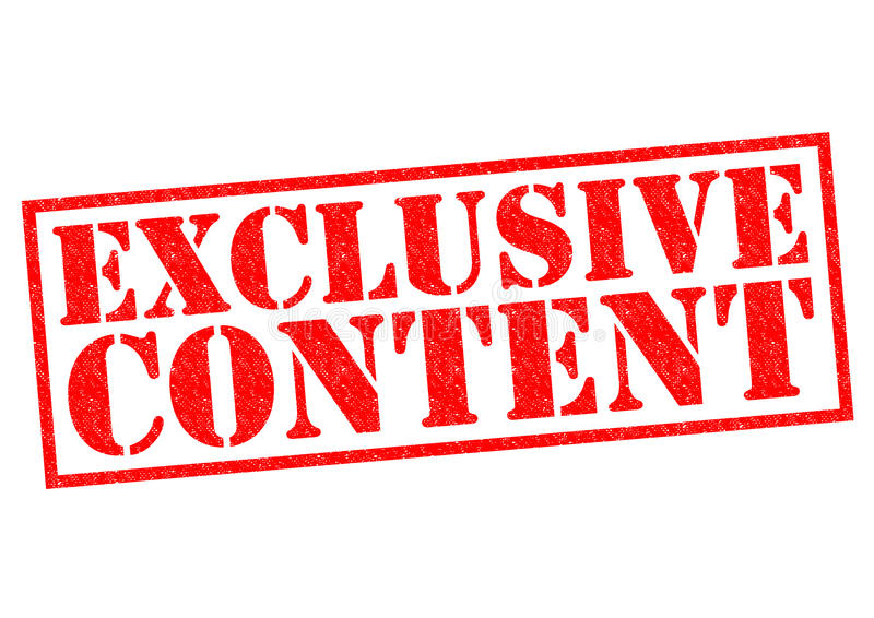 EXCLUSIVE CONTENT royalty free illustration