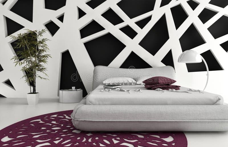 Exclusive Design Bedroom | 3d Interior architecture vector illustration