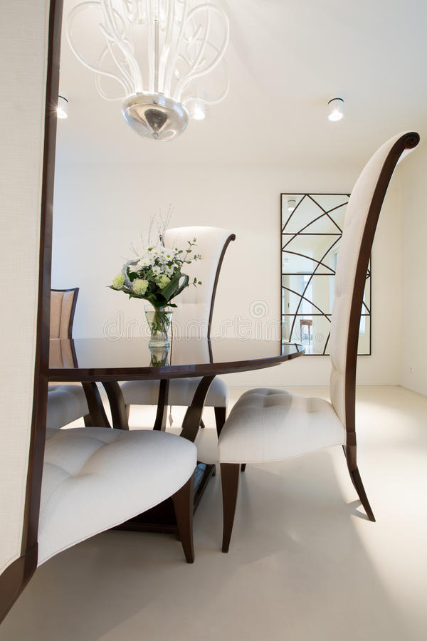 Exclusive dining room royalty free stock images