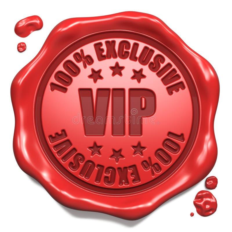 Exclusive do VIP - selo no selo vermelho da cera. imagens de stock royalty free