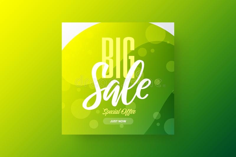 Exclusive bstract big sale vector banner design template. Special offer discount social media promotion illustration layout. Exclusive fantastic abstract big stock illustration