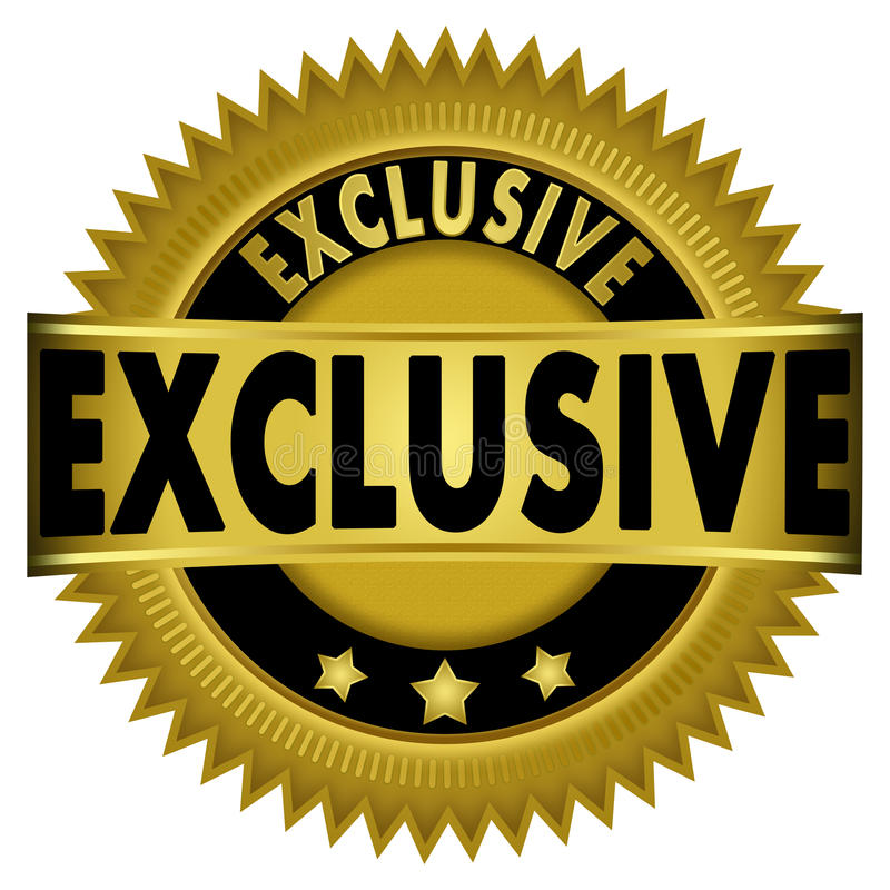 Exclusive Gold Badge vector illustration
