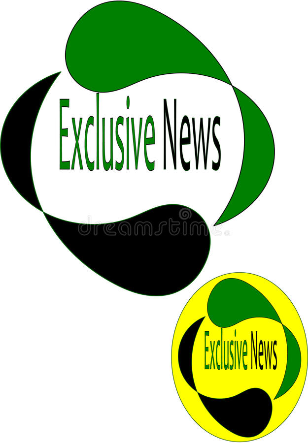 Exclusive news logo stock illustration