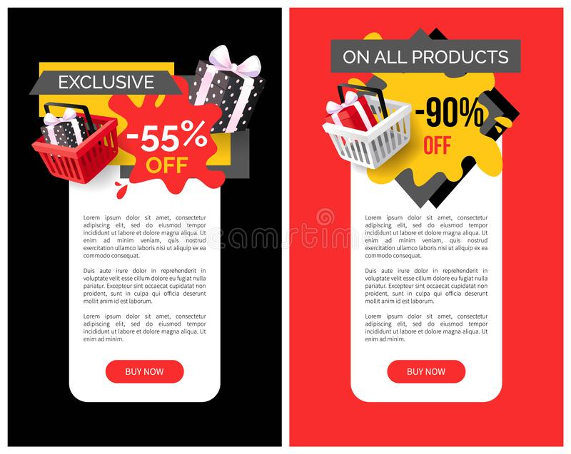 Exclusive Products Sellout Up to 90 Percent Off royalty free illustration