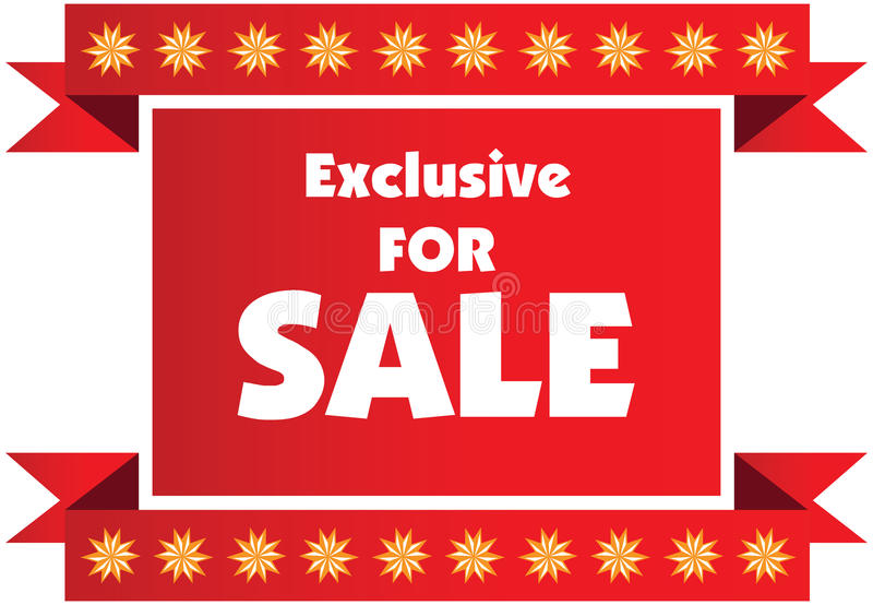 Exclusive sale label or badge isolated on white background. stock illustration
