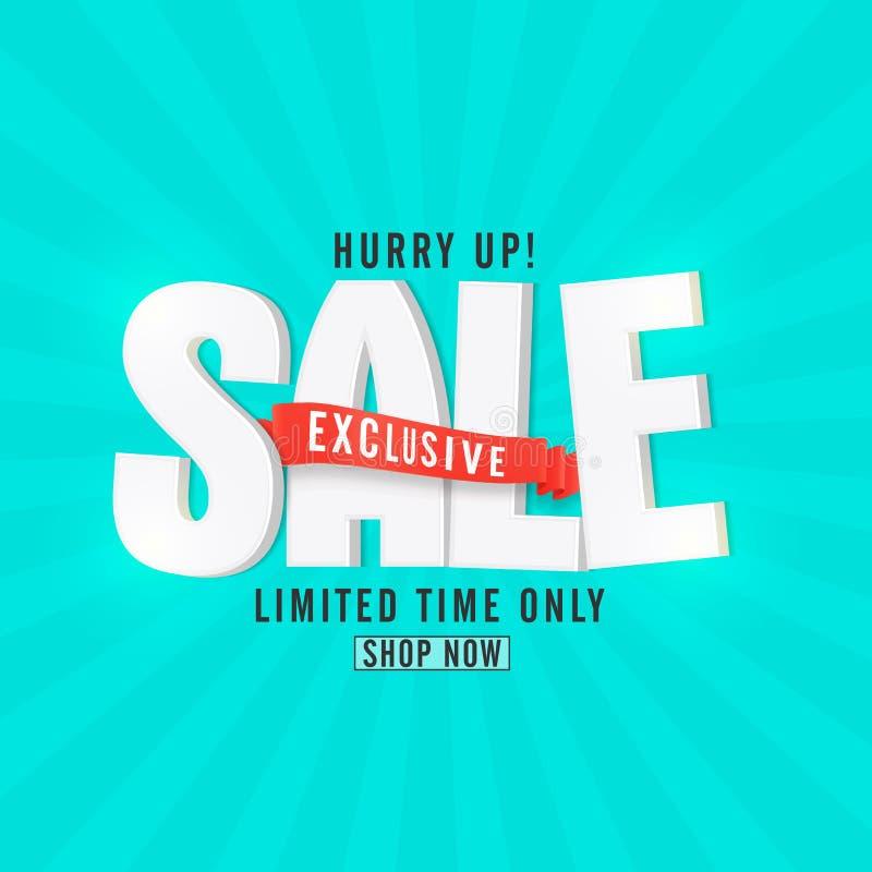 Exclusive Sale Poster, Banner or Flyer design. vector illustration