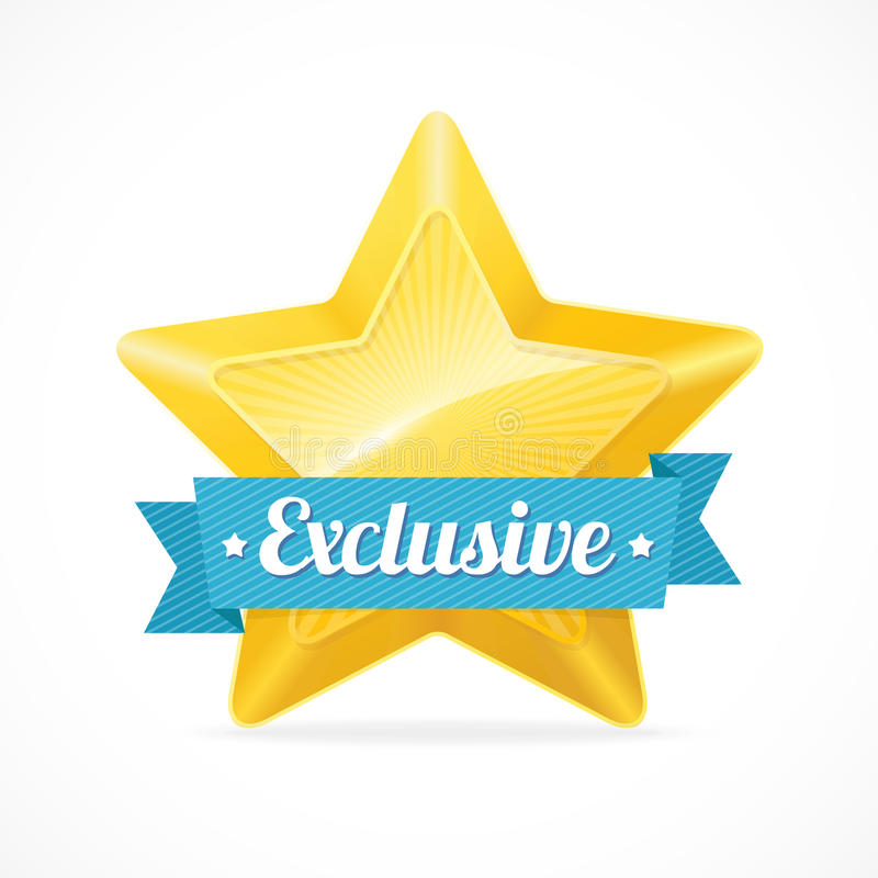 Free Exclusive Star Label. Vector Illustration Stock Images - 46861974
