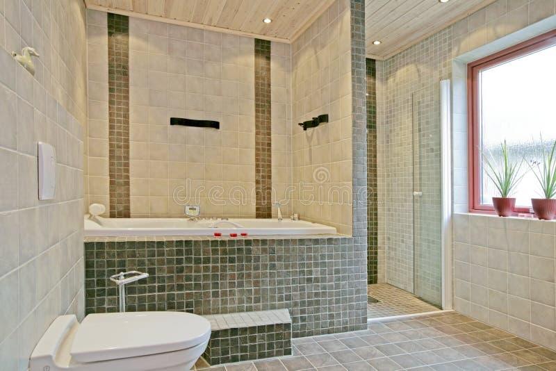 Exclusive Swedish bathroom interior stock images