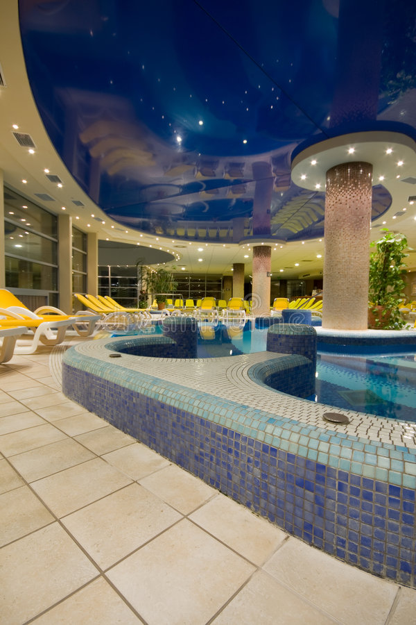 Download Exclusive swimming pool stock photo. Image of swim, evening - 9111214