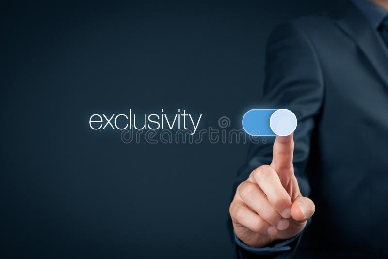 exclusivity arkivfoto