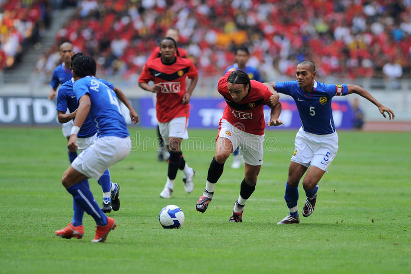 Excursão 2009 de Manchester United Ásia imagens de stock royalty free