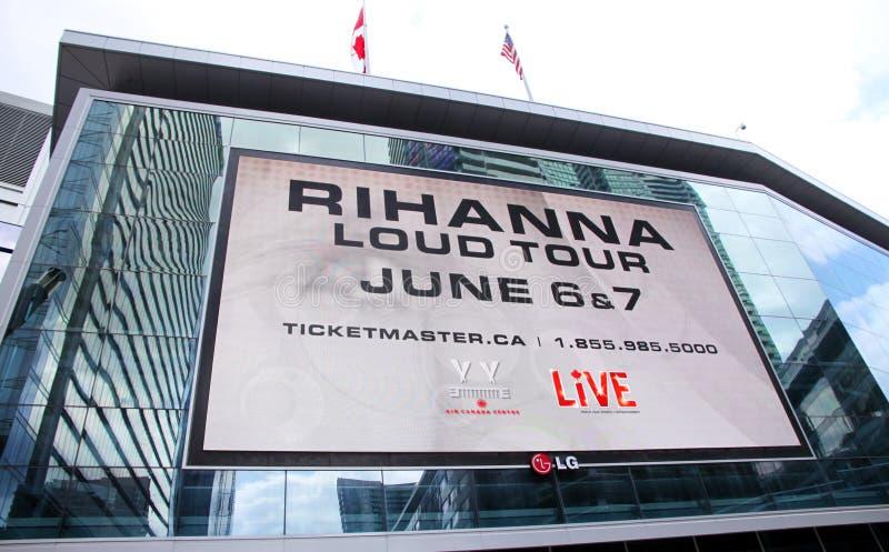 Excursão alta de Rihanna foto de stock
