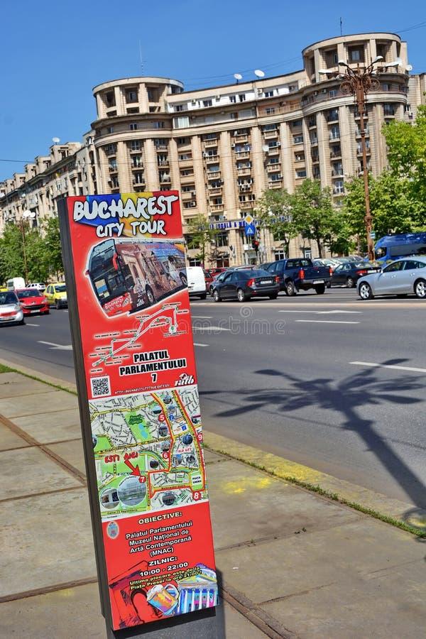 Excursão da cidade de Bucareste fotografia de stock