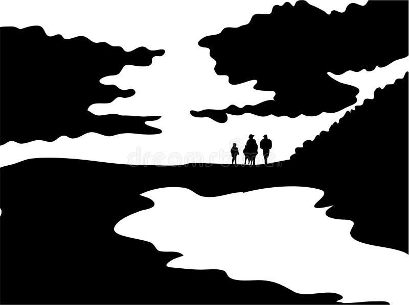 Excursão da família ilustração do vetor