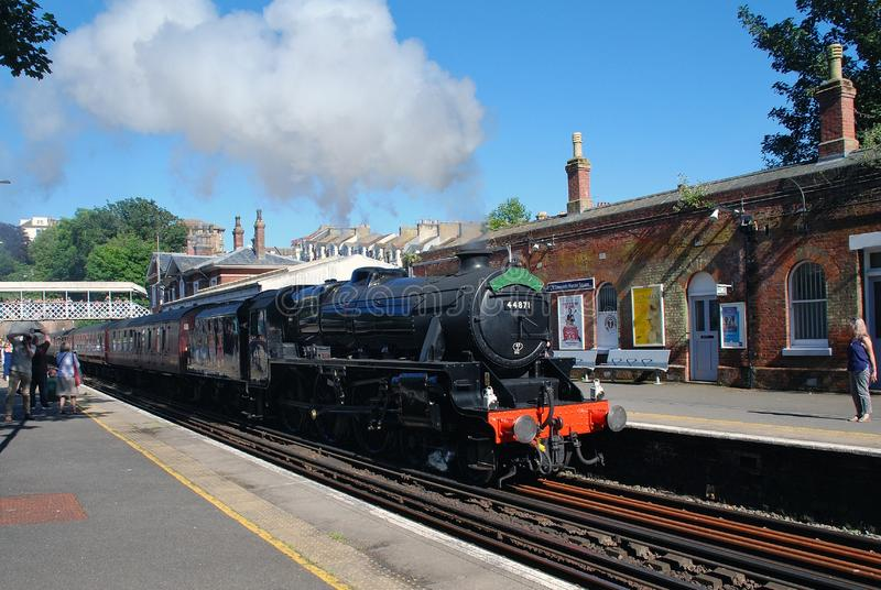 Excursão da locomotiva de vapor, St Leonards imagem de stock
