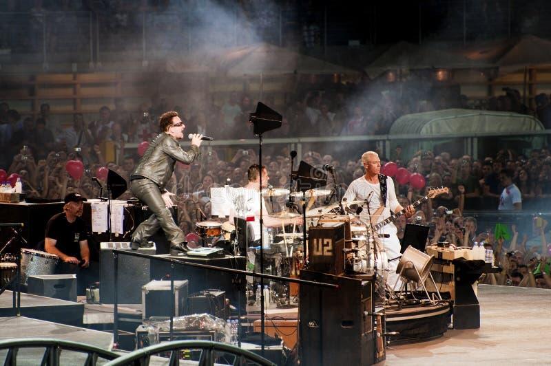 Excursão de U2 360° - viva em Turin fotografia de stock royalty free