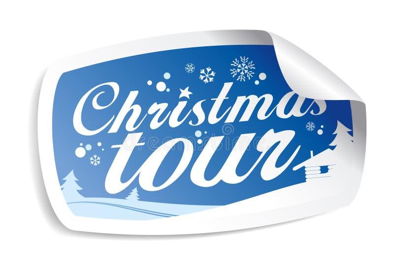 Excursão do Natal. ilustração do vetor