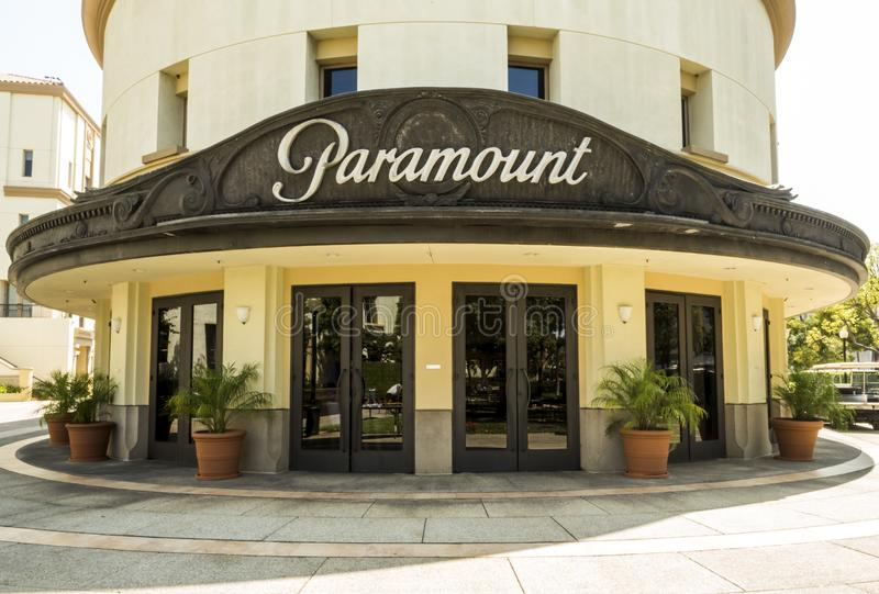 Excursão no 14 de agosto de 2017 - Los Angeles de Hollywood do teatro das imagens dos estúdios de Paramount, LA, Califórnia, CA fotografia de stock royalty free