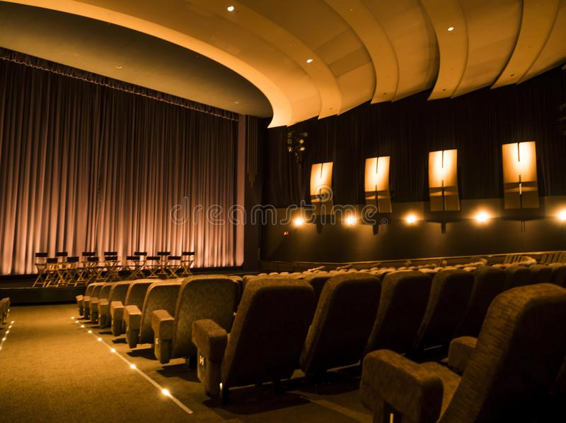Excursão no 14 de agosto de 2017 - Los Angeles de Hollywood do teatro das imagens dos estúdios de Paramount, LA, Califórnia, CA imagens de stock royalty free